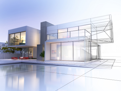 3D rendering of a luxury house
